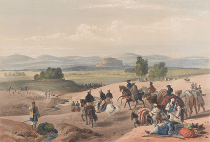 'The Approach to the Fortress of Kwettah', 1840 (c)