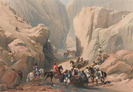 'The Opening into the Narrow Pass above the Siri Bolan', 1839