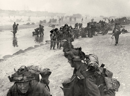 British troops at Sword Beach, Normandy, 6 June 1944