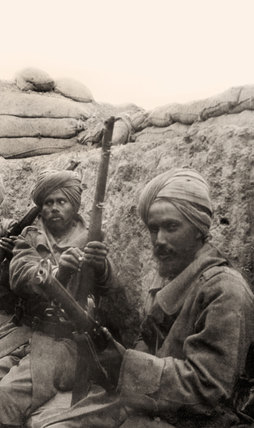 Indian soldiers in a trench, Gallipoli, 1915