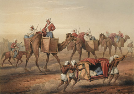 Reinforcement proceeding to Delhi, 1857