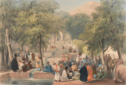 'The Avenue at Baber's Tomb', 1840
