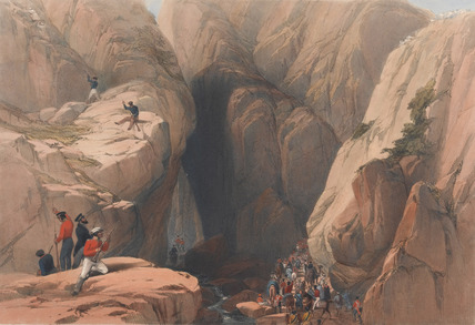 'Entrance into the Kojak Pass from Parush', 1839 (c)