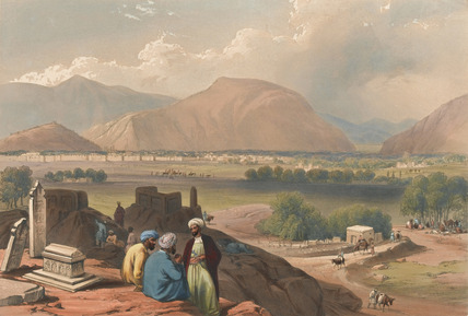 'Caubul, from a Burying Ground on the Mountain Ridge, North-East of the City'
