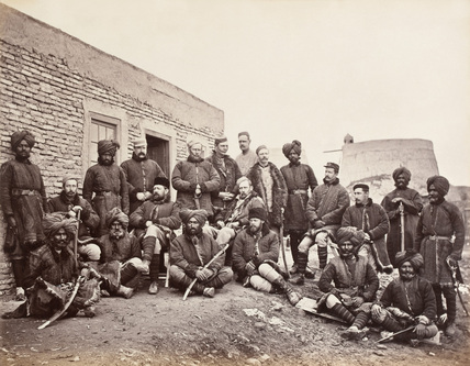British and Native Officers, 3rd Sikhs, 1879 (c)