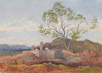 Ruin at Agoola, Tigre, Abyssinia, 1868