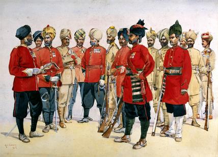 Punjab Regiments, 1911