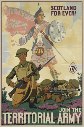 'Scotland For Ever! Join the Territorial Army', 1938.