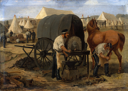 Farriers of the 17th Lancers, Chobham Camp, 1853