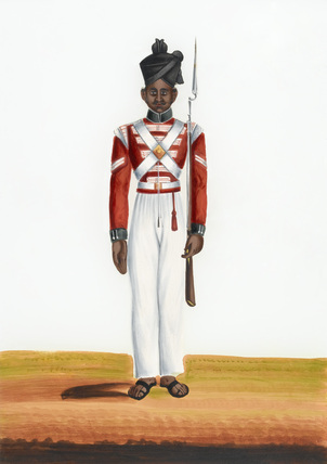 2nd Martin Battalion's Havildar, Madras Army, 1840 (c)