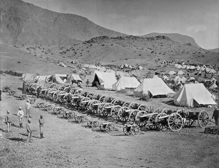 Captured guns from Ali Musjid, Shergai Heights, 1878
