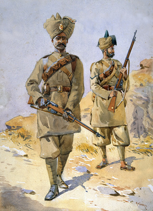 30th Punjabis and 20th Duke of Cambridge's Own Infantry, 1908 (c)