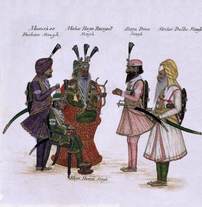 'Maha Raja Ranjeet Singh', 1850 (c).
