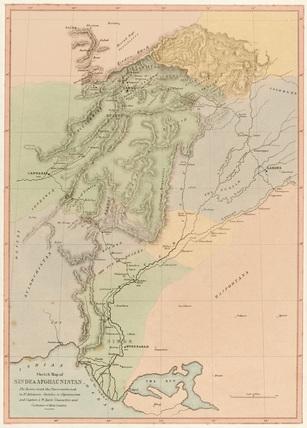 'Sketch Map of Sinde & Afghaunistan', 1842