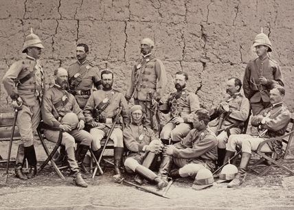 British officers, Queen's Own Guides, 1878 (c)