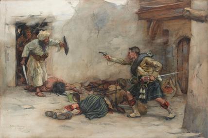 'Drummer James Roddick  hand-to-hand fighting in Kandahar', 1880