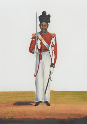 2nd Martin Battalion's Subadar, Madras Army, 1840 (c)