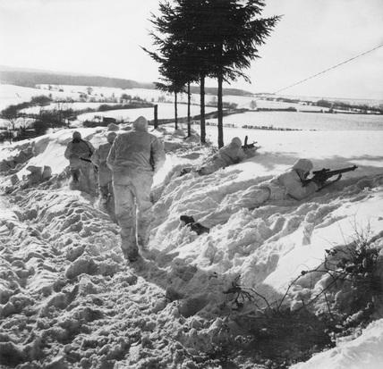 Recce patrol in Belgium, January 1945