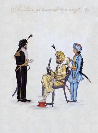 'Nounihal Singh Grandson of Ranjeet Singh', 1850 (c)