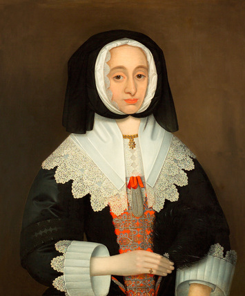 Portrait, traditionally said to be Mrs Lucy Hutchinson, 1643 (c)