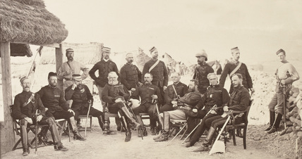 Lieutenant-General Sam Browne and staff, 1878 (c)