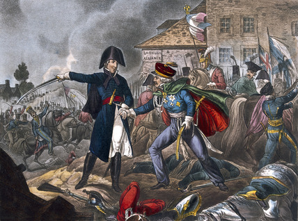 Meeting of Wellington and Blücher, at La Belle Alliance, 1815