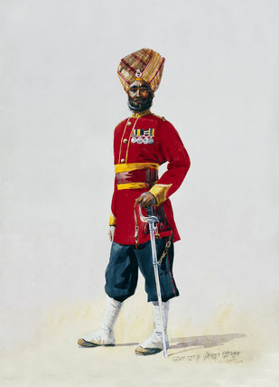 Subadar of the 35th Sikhs, 1908