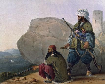 Afghan foot soldiers, 1842 (c)