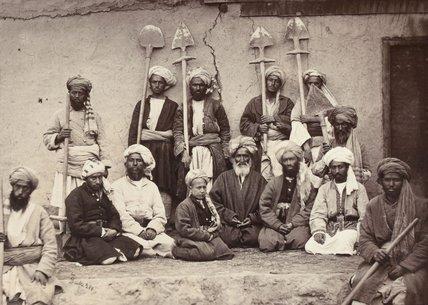 Landholders and labourers of Kabul, 1879.