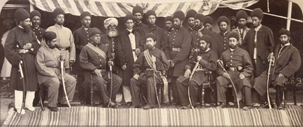 The Amir Yakub Khan and SIrdars of Kabul, 1879