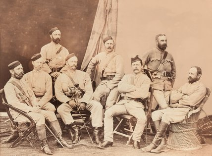 Officers of the 4th Goorkha Regiment, 1879