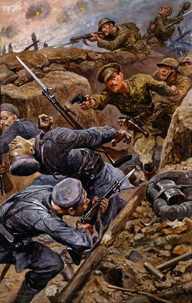 Captain Young, Middlesex Regiment, winning the MC, Battle of the Somme, 1916
