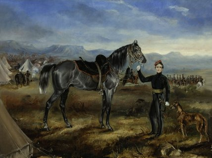 Charley, the horse of Captain T W Goodrich, Cape Mounted Riflemen, 1854