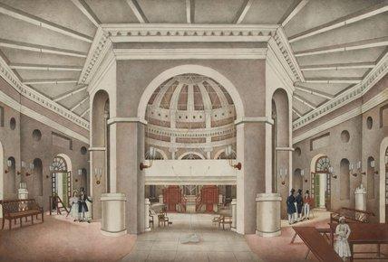 'Interior view of St James's Church, Delhi', 1836 (c)