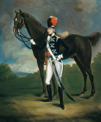 Unidentified officer, 7th (or The Queen's Own) Regiment of Light Dragoons, 1793