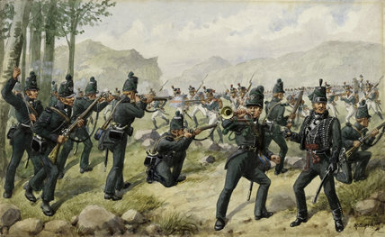 The 95th Rifles at the Battle of the Pyrenees, 1813