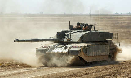 Challenger 2 tank, The Queen's Royal Hussars, Iraq, 2006