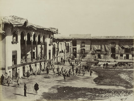 Courtyard in the Bala Hissar, Kabul, 1880 (c)