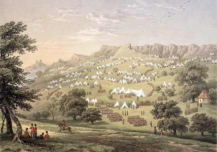 The Camp of the Foreign Legion near Hythe, Kent, 1855