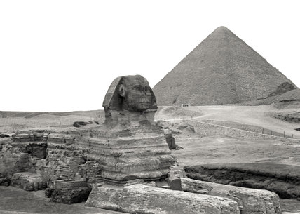 Sphinx and the Great Pyramid, Giza, Egypt, 1942 (c)
