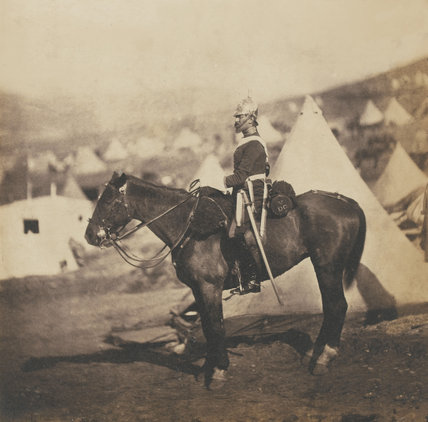 Major Burton, 5th (The Princess Charlotte of Wales's) Regiment of Dragoon Guards, 1855