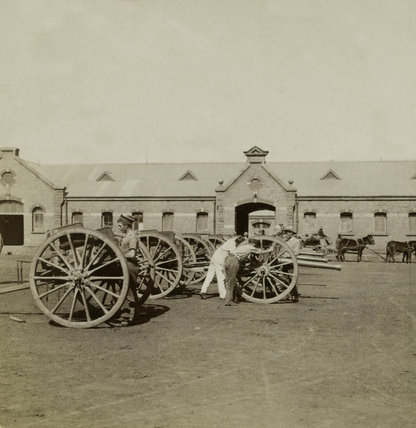 Guns of the 75th Royal Field Artillery, Pretoria, South Africa, 1901
