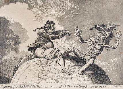 'Fighting for the Dunghill - Jack Tar settling Buonaparte', November 1798