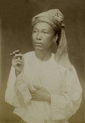 A Burmese man, 1885 (c)