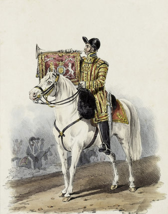Life Guards, Trumpeter in State Dress, 1828