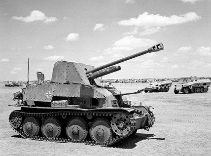 Captured German Marder III self-propelled gun, North Africa, 1943 (c)