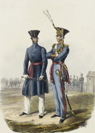 Royal Artillery Officers, 1828