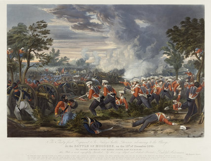 Battle of Moodkee 18 December 1845