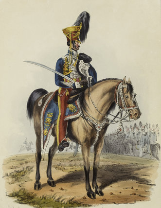 15th Hussars, Officer in Review Order, 1828