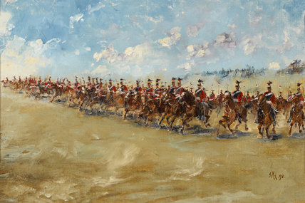 16th (The Queen's) Lancers, advancing at a gallop, 1898